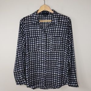 Lumiere | Silky Plaid Button Down Shirt